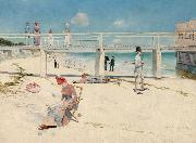 Charles conder Holiday at Mentone (nn02) oil painting picture wholesale