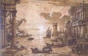 Claude Lorrain Embarkation of the Queen of Sheba (mk17 oil painting picture wholesale