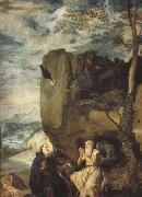 Diego Velazquez St Anthony Abbot and St.paul the Hermit (df01) oil painting picture wholesale