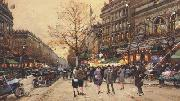 Eugene Galien-Laloue La theatre du gymnase (mk21) oil painting picture wholesale