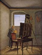 Georg Friedrich Kersting Friedrich in his Studio (mk10) oil painting artist