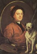 HOGARTH, William Self-portrait (mk08) oil painting artist