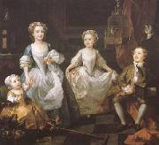 HOGARTH, William The Graham Chidren (mk08) oil painting artist