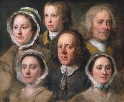 HOGARTH, William Heads of Six of Hogarth's Servants (mk08) oil painting artist