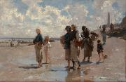 Henry Sargent The Oyster Gatherers of Cancale (mk18) oil painting picture wholesale