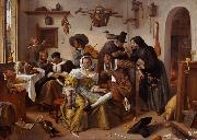Jan Steen The Word Upside Down (mk08) oil painting picture wholesale