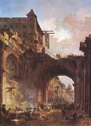 ROBERT, Hubert The Porta Octavia in Rome (mk08) oil painting picture wholesale