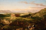 Thomas Cole The Temple of Segesta with the Artist Sketching (mk13) oil painting picture wholesale