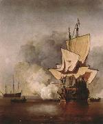 VELDE, Willem van de, the Younger The Cannon Shot (mk08) oil painting picture wholesale