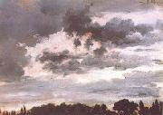 Adolph von Menzel Study of Clouds (nn02) oil painting artist