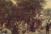 Adolph von Menzel Afternoon in the Tuileries Garden (nn02) oil painting artist