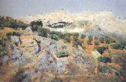 Aurelio de Beruete View of Toledo from the Olive Groves (nn02) oil painting picture wholesale