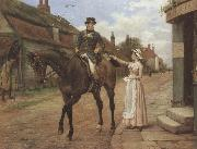 George goodwin kilburne Collecting the Post (mk37) oil painting picture wholesale