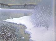 Gustaf Fjaestad Hoar-Frost on the Ice (nn02 oil painting artist