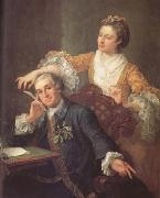 HOGARTH, William David Garrick and his Wife (mk25) oil painting artist