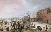 Hendrick Avercamp A Scene on the Ice Near a Town (nn03) oil painting artist