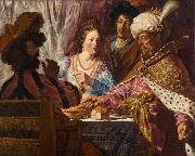 Jan lievens The Feast of Esther (mk33) oil painting artist