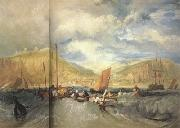 Joseph Mallord William Turner Hastings:Deep-sea fishing (mk31) oil painting artist