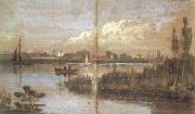 Joseph Mallord William Turner River scene with boats (mk31) oil painting artist