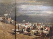 Joseph Mallord William Turner Fishmarket on thte beach (mk31) oil painting artist