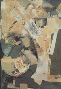 Kurt Schwitters Picture of Spatial Growths-Picture with Two Small Dogs (nn03) oil painting artist