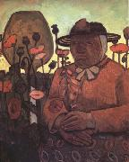 Paula Modersohn-Becker old Poorhouse Woman with a Glass Bottle (nn03) oil painting artist