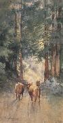 Percy Gray Cows in a Redwood Glade (mk42) oil painting picture wholesale