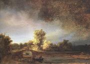 REMBRANDT Harmenszoon van Rijn Landscape with a Stone Bridge (mk33) oil painting picture wholesale