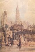 Richard Parkes Bonington Rouen from the Qualis (nn03) oil painting picture wholesale