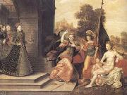 The Brunswick Monogrammist Elizabeth I and the three Goddesses (mk25) oil painting artist