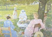 Theo Van Rysselberghe Family in an Orchard (nn02) oil painting artist