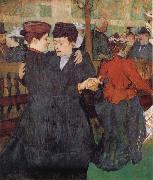 Henri de toulouse-lautrec Two Women Dancing at the Moulin Rouge oil painting artist