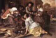 Jan Steen The Effects of Intemperance oil painting artist