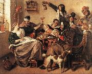 Jan Steen The Artist's Family oil painting artist