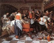 Jan Steen Celebrating the Birth oil painting picture wholesale