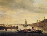 Saloman van Ruysdael The Crossing at Nimwegen oil painting artist