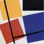 Theo van Doesburg Simultaneous Counter Composition oil painting artist