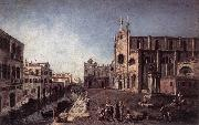 ALBOTTO  Francesco View of Campo Santi Giovanni e Paolo oil painting