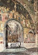 ANDREA DA FIRENZE Frescoes on the central wall oil painting