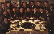 ANTHONISZ  Cornelis Banquet of Members of Amsterda  s Crossbow Civic Guard oil painting