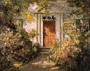 Abbott Fuller Graves Grandmother's Doorway oil painting
