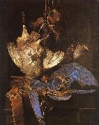 Aelst, Willem van Still Life with Hunting Equipment oil painting