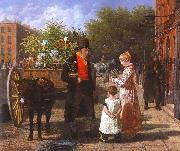 Agasse, Jacques-Laurent The Flower Seller oil painting