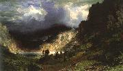 Albert Bierstadt Storm in the Rocky Mountains, Mt Rosalie oil painting