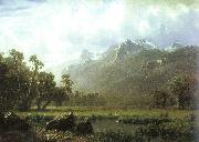Albert Bierstadt The Sierras near Lake Tahoe, California oil painting
