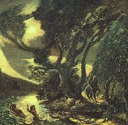 Albert Pinkham Ryder Siegfried and the Rhine Maidens oil painting