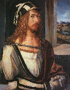 Albrecht Durer Self Portrait with Gloves oil painting