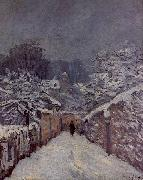 Alfred Sisley Snow at Louveciennes oil painting