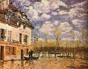 Alfred Sisley Boat During a Flood oil painting