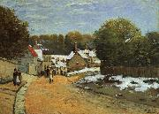 Alfred Sisley Early Snow at Louveciennes oil painting reproduction